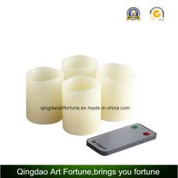 Ivory im Freien flammenlose LED-Votive Kerze stellte mit Fernsteuerungs ein