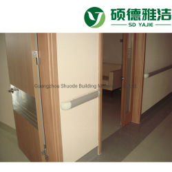 Guarda de proteção da parede de PVC de colisão com 125mm de largura para o Hospital
