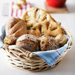 食糧金庫はさみ金が付いている環境に優しいカスタマイズされたハンドメイドのヤナギのパンのバスケット