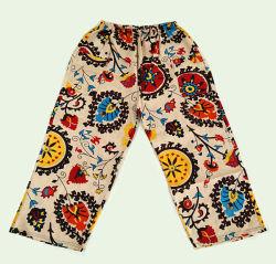 As roupas da moda de linho, as mulheres de lazer ampla prensa para calças