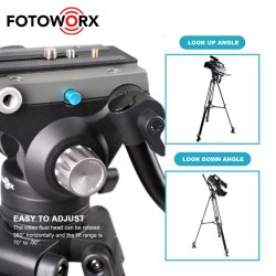 DSLR 카메라 비디오 캠코더 촬영을 위한 유체 드래그 팬 헤드