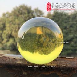 Balle acrylique 2,95 pouce 75mm Balle de jonglage (couleur : Translucent-Gold) Magic Ball Contacter