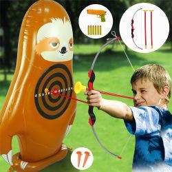 PVC 키즈 가든 다트 게임 세트, 마음에 안 드는 친환경 브라운 브래드포 DART 게임 세트 장난감