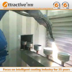 Esportazioni cinesi della fabbrica alla linea di produzione di spruzzatura termica automatica del rivestimento della strumentazione del fornello di alta qualità del Wok del Vietnam