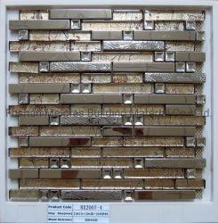 Mozaïek van het Glas van het Kristal van het Mozaïek van het Metaal van het Roestvrij staal van de decoratie het Materiële