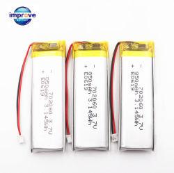 좋은 품질 전문가에 의하여 주문을 받아서 만들어지는 Rechargeabble Lithiunm 중합체 건전지 602060 702060 802060 850mAh 3.7V Lipo 건전지