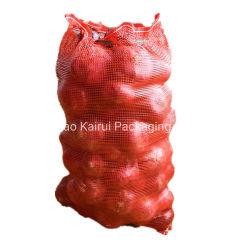 Linon-Kartoffel-Zwiebelen-Ineinander greifen-verpackenbeutel des China-Lieferanten-haltbares Plastik50lb 50kg