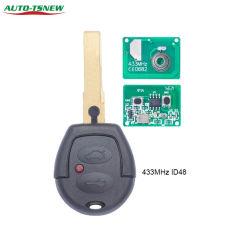 Пульт дистанционного управления автомобиля с помощью кнопки 2 брелка 434МГЦ ID48 для VW Volkswagen Golf