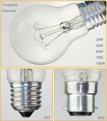 Lampe à incandescence de Lampe témoin 75W 220V/110V Effacer / lampe Edison dépoli
