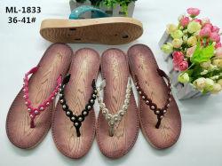 Zapatilla de Mujer de soplado de PVC de talón de cuña de zapatos de PCU