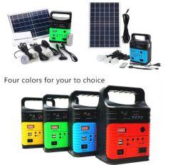 نظام الطاقة الشمسية المحمولة نظام مجموعة المصابيح الشمسية مع FM وMP3 والراديو