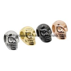 Le charme du crâne en acier inoxydable pour les bijoux de perles DIY