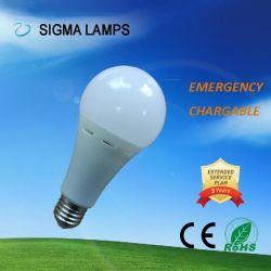 Dimmableの調光器再充電可能なバックアップランプLEDの軽い緊急の球根を働かせるシグマAC/DC Gfc 7W 9W 12W B22 E27電池