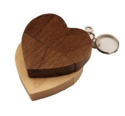 صنع وفقا لطلب الزّبون خشبيّة قلب شكل [أوسب] برن إدارة وحدة دفع [32غب] [16غب] [8غب] [4غب] [أو] أسطوانة فنّ تصوير فوتوغرافيّ [ودّينغ جفت]
