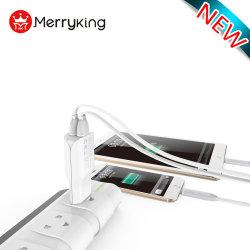 美しいデザインデュアル USB ポート EU プラグ 5V 2.4A クイック 充電器アダプタ