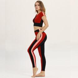 Großhandelsdame-Gymnastik-Sport-Abnützung-Mädchen-athletische Trainings-Klage-kundenspezifisches Frauen-Eignung-Yoga-Set