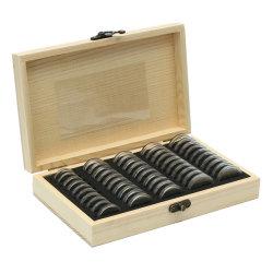 Древесина стиле монет дисплея случае поля для хранения ювелирных изделий в салоне