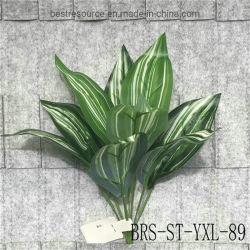 공장 도매 시뮬레이션 녹색 식물 결혼식 훈장 벽 꽃꽂이 8 잎 인공적인 플랜트