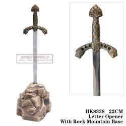 O Lion Espada Carta Cavaleiro do abridor espadas Decoração Artesanato 22cm HK8338