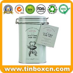 Le thé en métal personnalisée de l'étain Canister avec étanche pour Tea Caddy