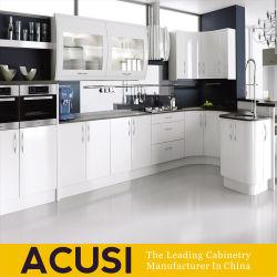 Le bois blanc moderne de haute qualité Furiture des armoires de cuisine (ACS2-L120)
