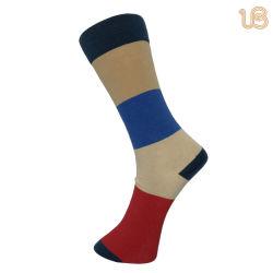Homens com listra colorida do vestido Mercerizado meias de alta qualidade