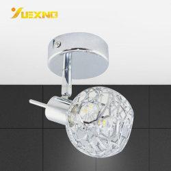 Lampada da parete calda dello zoccolo di bianco G9 LED che illumina l'indicatore luminoso d'argento di cristallo dell'interno del punto