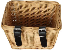 Filhos de vime Vime Aluguer de cesta com alça em couro