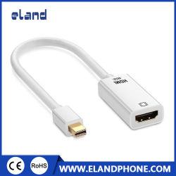 (흰색) Mini DisplayPort DP 1.2 - HDMI 1.4 어댑터 케이블 지원 3D, 4K * 2K 고해상도