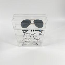 Visor para óculos de acrílico de armazenamento de caixa empilhável com preço de atacado