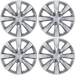 """Bdk (4-Pack) Premium 16"""" Tapa de la Llanta embellecedores de sustitución de estilo OEM Snap coches camioneta SUV de la tapa del cubo - Conjunto de 16 pulg."""