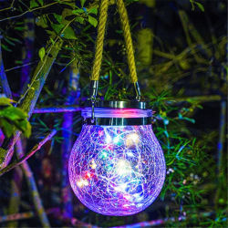 솔라 랜턴 홀리데이 장식으로 가든 LED 조명 크리스탈 볼 야외 크리스마스 장식 선물 모양을 다듬습니다