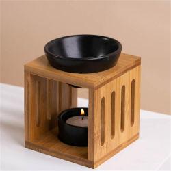 Cerámica personalizada derretir la cera de velas Tealight Aceite Esencial de quemador de aroma