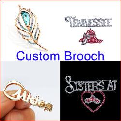 特注のラインストーンダイヤモンド合金のブローチラップルピン / ファッションクリスタル ブローチ