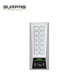 12V 28VはIP65 125kHz 13.56MHzメタルピンコード1リレー単一のドアRFIDのキーパッドの読取装置のスタンドアロンアクセス制御を防水する