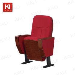 كرسي مدرسة قاعة المسرح للكنيسة المعدنية ذات المقعد القابل للطي الخشبي (KL-816)