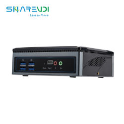 نظام باربون كمبيوتر مكتبي صغير NUC كمبيوتر Thin Client مدمج مع M. 2 WiFi من النوع C 2*HDMI