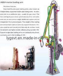 Braccio di carico marino GPL idraulico con tubo di ritorno vapori