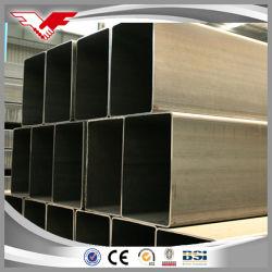 Kaltes gebildetes ASTM A500 Schwarzes des Fluss-Stahl-Rohr-des Grad-a/Gr. B/G.C oder galvanisiertes rechteckiges Gefäß-Quadrat-Gefäß/rechteckiges Rohr/quadratisches Rohr für Baumaterial