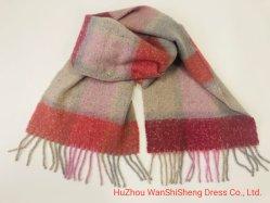 Damen Polyester Warm Lang Schalenwickel Große Schals Gewebten Kariert Cashmere-Schal Mit Viel Plaid Und Gebürstetem Design