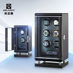 지문은 기계적인 시계 와인더 상자 자동적인 시계 감기 저장 상자 5 최빈값 침묵하는 모터 현대 지적인 와인더를 자물쇠로 연다
