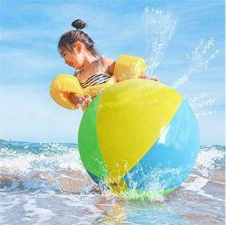 Дружественность к окружающей среде ПВХ, подвести итоги трех цветовых надувной мяч на пляже