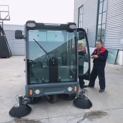Directamente da fábrica venda qualidade Super Road Vassoura Vassoura Automática de carro no piso da estrada Sweeper Limpe a máquina