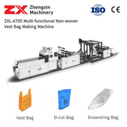 Zhengxin Machine Hot Sale Automatic NWGD-Shirt BA, W-Cut Bag, D-Cut Bag, U-Cut Bag, Tool Bag, حقيبة ورق مغلفة/حقيبة تسوق من القطن