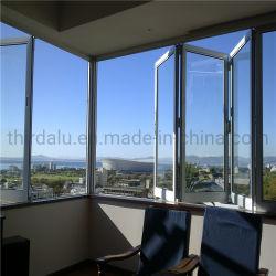 Capota retráctil moderno padrão branco prateado ou deslize a dobragem de janelas e portas de alumínio articulada Grill Imagem de Design