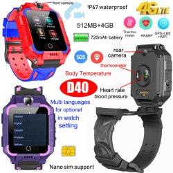 Späteste ältere video Verfolger-Uhr GPS des Aufruf-Puls-4G mit Thermometer D40
