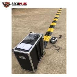 hand - het gehouden mobiele van het verkeersbarrer van de bandmoordenaar Systeem van de Opsporing in politie, de bouw