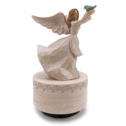 Boîte à musique de résine Hand-Painted sculpté Angel figure la boîte à musique