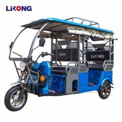 Bajaj E Rickshaw trois roues Tricycle électrique Tuk Tuk passager pour Taxi