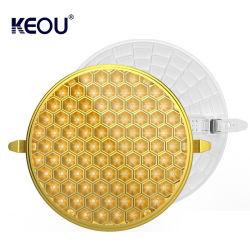 Keou New Anti Glare Dimmable LED 조명 매입형 조절식 LED 램프 9W 18W 24W 36W LED 패널 LED 램프